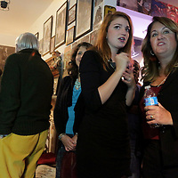 Campaign Manager Erin Rogers, left, and Candidate for NC Senate District 9 Elizabeth Redenbaugh watch election results at Ted's Fun on the River Tuesday November 4, 2014 in Wilmington, N.C. (Jason A. Frizzelle)