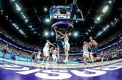 Klemen Prepelic of Slovenia vs Erik Murphy of Finland during basketball match between National Teams of Finland and Slovenia at Day 3 of the FIBA EuroBasket 2017 at Hartwall Arena in Helsinki, Finland on September 2, 2017. Photo by Vid Ponikvar / Sportida