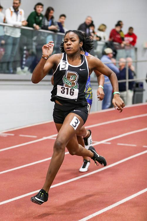 womens 200 meters, heat 1, Brown, Alicia Thomas<br /> BU John Terrier Classic <br /> Indoor Track & Field Meet