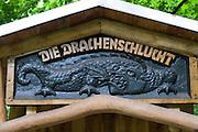 Eingang Drachenschlucht, Eisenach, Thüringen, Deutschland   Dragon Gorge, Eisenach, Thuringia, Germany