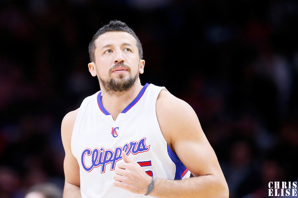 08 December 2014: Los Angeles Clippers forward Hedo Turkoglu (15) is seen during the Los Angeles Clippers 121-120 overtime victory over the Phoenix Suns, at the Staples Center, Los Angeles, California, USA.