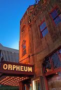 The Orpheum Theatre is a small theatre (seating 1364) in downtown Phoenix. This venue was originally used for vaudeville acts as part of the nationwide Orpheum Theatre chain.<br />