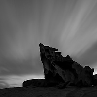 Australia, South Australia, Kangaroo Island, Flinders Chase National Park, The Remarkable Rocks at dusk