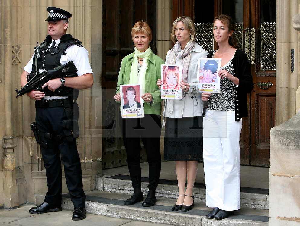 © licensed to London News Pictures. LOCATION, UK , Westminster.13-06-11.Today, three mothers of missing children - Kate McCann, Nicki Durbin and Sarah Godwin - Will give evidence at the UK's First ever Parliamentary Inquiry into the rights of families of missing People. ..Pictured:.Sarah Godwin - Kate McCann - Nicki Durbin...Please see special instructions for usage rates. Photo credit should read Tim Roberts/LNP