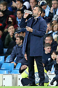 Dinamo Zagreb Manager Nenad Bjelica during the Champions League match between Manchester City and Dinamo Zagreb at the Etihad Stadium, Manchester, England on 1 October 2019.