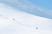Skifahrer ober der Oberstockenseeli in Simmental