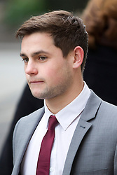 © Licensed to London News Pictures. 06/02/2013. London, UK. Brighton and Hove Albion football player George Barker, 21, is seen arriving at the Old Bailey in London today (06/02/13) where he and four other players are facing charges of sexual assault. Photo credit: Matt Cetti-Roberts/LNP