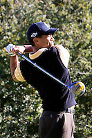 15 December 2007: Pro PGA golfer Tiger Woods swings his Nike club on the 11th teebox while he participates during the third round of the ninth annual Target World Challenge golf tournament presented by the Tiger Woods Foundation at Sherwood Country Club in Thousand Oaks Westlake Village in Southern California.