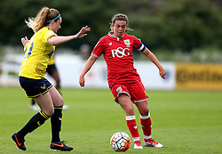 Jodie Brett of Bristol City Women takes on Madi Lee of Oxford United - Mandatory by-line: Robbie Stephenson/JMP - 25/06/2016 - FOOTBALL - Stoke Gifford Stadium - Bristol, England - Bristol City Women v Oxford United Women - FA Women's Super League 2