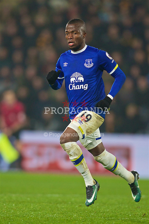KINGSTON-UPON-HULL, ENGLAND - Friday, December 30, 2016: Everton's Enner Valencia in action against Hull City during the FA Premier League match at the KCOM Stadium. (Pic by David Rawcliffe/Propaganda)