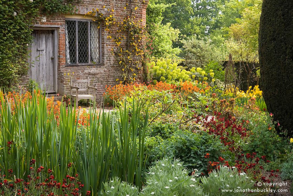 The Cottage Garden at Sissinghurst Castle in spring