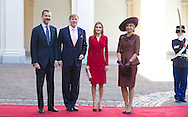The Hague, 15-10-2014<br /> <br /> King Willem-Alexander and Queen Maxima revived King Felipe and Queen Letizia of Spain.<br /> <br /> <br /> Photo: Bernard Ruebsamen/Royalportraits Europe