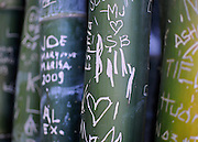 AUSTRALIA - SYDNEY  Graffiti scratched into bamboo at the Royal Botanical Gardens in Sydney City Centre  04/01/2010. STEPHEN SIMPSON...