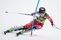 January 7, 2018 - Kranjska Gora, Gorenjska, Slovenia - Maren Skjoeld of Norway competes on course during the Slalom race at the 54th Golden Fox FIS World Cup in Kranjska Gora, Slovenia on January 7, 2018. (Credit Image: © Rok Rakun/Pacific Press via ZUMA Wire)