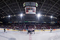 KELOWNA, CANADA - FEBRUARY 7:  The Kelowna Rockets take on the Vancouver Giants on February 7, 2018 at Prospera Place in Kelowna, British Columbia, Canada.  (Photo by Marissa Baecker/Shoot the Breeze)  *** Local Caption ***