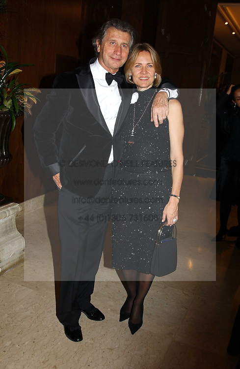 MR & MRS ARNAUD BAMBERGER at the 2004 Cartier Racing Awards in association with the Daily Telegraph, held at the Four Seasons Hotel, London on 17th November 2004.<br /><br />NON EXCLUSIVE - WORLD RIGHTS