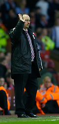 LIVERPOOL, ENGLAND - Saturday, January 26, 2008: I want five... Liverpool's manager Rafael Benitez during the FA Cup 4th Round match against  Havant and Waterlooville at Anfield. (Photo by David Rawcliffe/Propaganda)