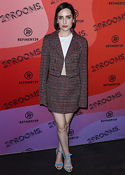 December 4, 2018 - Los Angeles, California, United States - LOS ANGELES, CA, USA - DECEMBER 04: Actress Zoe Lister-Jones arrives at the Refinery29 29Rooms Los Angeles 2018: Expand Your Reality Opening Party held at The Reef A Creative Habitat on December 4, 2018 in Los Angeles, California, United States. (Credit Image: © face to face via ZUMA Press)