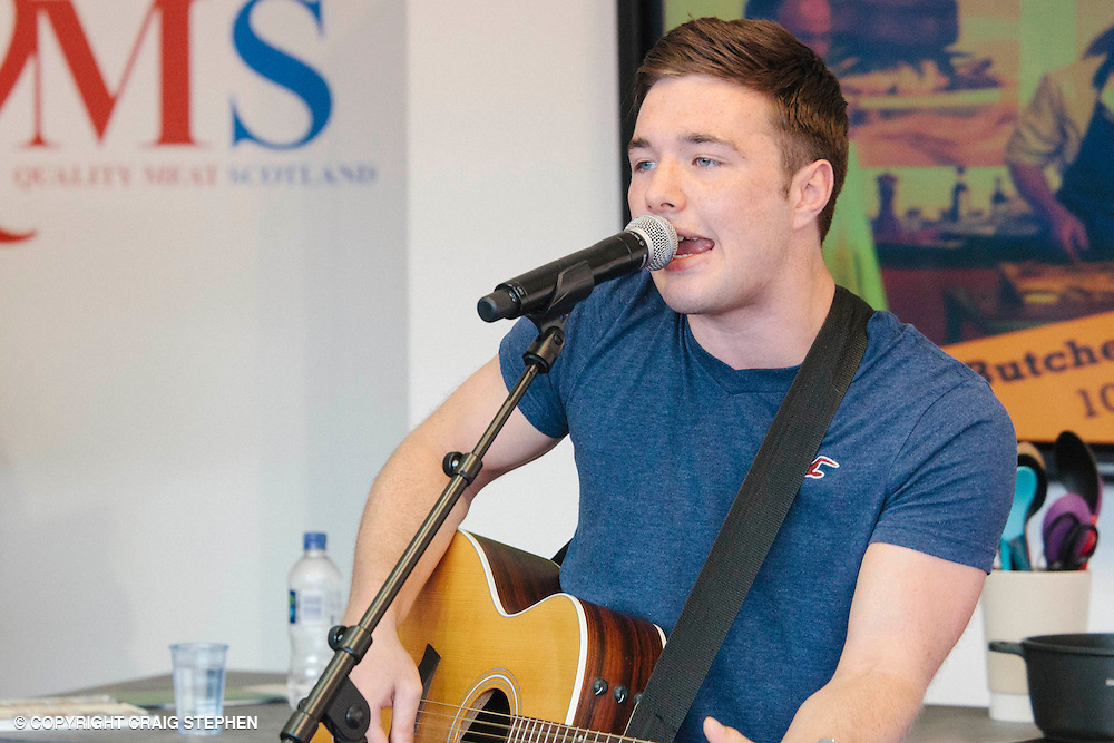 Royal Highland Show, 2014. Max Murphy, runner up in BBC The Voice competition entertained crowds at the QMS stand. PAYMENT TO CRAIG STEPHEN 07905 483532