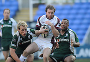 Reading, GREAT BRITAIN, Geordan MURPHY collects the high ball, during the Guinness Premiership match, London Irish vs Leicester Tigers, played at the Madejski Stadium, on Sun. 17th Feb 2008.  [Mandatory Credit, Peter Spurrier/Intersport-images]