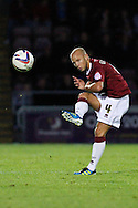 Picture by David Horn/Focus Images Ltd +44 7545 970036.30/08/2012.Man of the Match, Luke Guttridge of Northampton Town during the Capital One Cup match at Sixfields Stadium, Northampton.