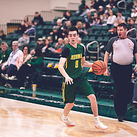 3rd year guard, Benjamin Hillis (8) of the Regina Cougars during the Men's Basketball Home Game on Sat Nov 03 at Centre for Kinesiology,Health and Sport. Credit: Arthur Ward/Arthur Images