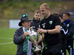RHOSYMEDRE, WALES - Sunday, May 5, 2019: The New Saints' chairman Mike Harris (L) with assistant coach Steve Evans after the FAW JD Welsh Cup Final between Connah's Quay Nomads and The New Saints at The Rock. TNS won 3-0. (Pic by David Rawcliffe/Propaganda)