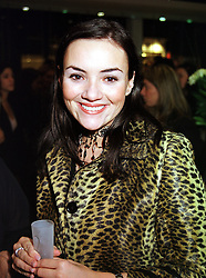 Actress and singer MARTINE McCUTCHEON, at a party in London on 16th September 1999.MWK 65