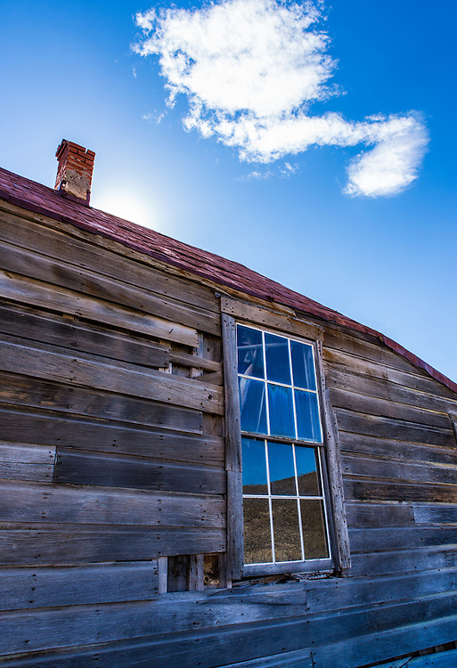 An abandoned home in the Bodie, CA state park.  Bodie was a former booming mining town.