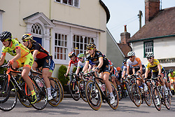 Annette Edmondson (Wiggle Honda) navigates through country villages on Stage 2 of Aviva Women's Tour 2015.