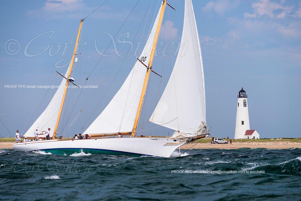 Ticonderoga sailing in the Opera House Cup regatta.