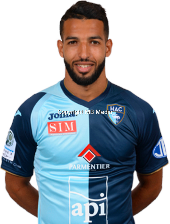 CHEBAKE Issam during photocall of Le Havre AC for new season of Ligue 2 on September 29th 2016<br /> Photo : Lelaidier / Hac / Icon Sport