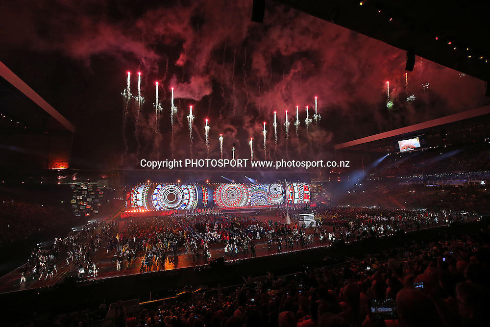 Opening Ceremony of the Glasgow 2014 Commonwealth Games at Celtic Park, Glasgow, Scotland. Wednesday 23rd July 2014. Photo: Anthony Au-Yeung / photosport.co.nz