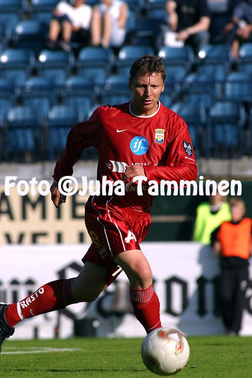 23.06.2003, Veritas Stadion, Turku, Finland..Suomen Cup, 5. kierros / Finnish FA Cup, 5th round.TPS Turku v Myllykosken Pallo-47.Jukka Ruhanen - MyPa.©Juha Tamminen