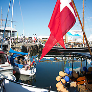 Allinge havn. Folkemøde 2015 i Allinge på Bornholm.