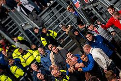 27-09-2018 NED: FC Utrecht - MVV Maastricht, Utrecht<br /> First round Dutch Cup stadium Nieuw Galgenwaard / <br /> Sercurity and ME police must act against supporters of MVV...