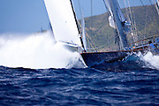 Rebecca sailing in The Superyacht Cup regatta, race one.