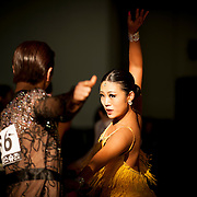Dancers compete at the Silla University 11th National Dance Sports Tournament in Busan, South Korea.