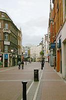 Early morning on Grafton Street, Dublin