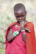 Young Maasai female teen Maasai is an ethnic group of semi-nomadic people Photographed in Tanzania