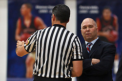 Jan 9, 2012; Moraga CA, USA;  St. Mary's Gaels head coach Randy Bennett (right) argues a call against the San Francisco Dons during the first half at McKeon Pavilion.  St. Mary's defeated San Francisco 87-72. Mandatory Credit: Jason O. Watson-US PRESSWIRE