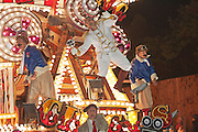 Baron von Schmidtt's World Famous Flying Circus by Masqueraders Carnival Club in 2011. Bridgwater Carnival is an annual event to raise money for local charities. It is widely reputed to be the largest illuminated carnival in the world.