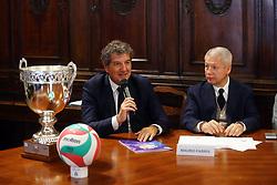STEFANO BIANCHINI E MAURO FABRIS<br /> CONFERENZA DI PRESENTAZIONE FINAL FOUR COPPA ITALIA PALLAVOLO FEMMININILE A VERONA<br /> VERONA 25-01-2019<br /> FOTO FILIPPO RUBIN / LVF