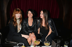 Left, FLORENCE WELCH at the Universal Bacardi Brits' After Party At Soho House Pop-Up, 8 Victoria Embankment, London on 19th February 2014.