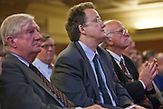 Nick Hardwick, new Chief Insprector of Prisons listening to Dame Anne Owers speaking at the Prison Reform Trust lecture 2010.  Inside Out, reflections on nine years as cheif inspector of prisons. Central Hall, Westminster.
