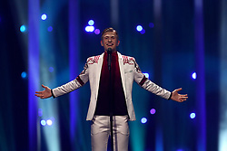 May 7, 2018 - Lisbon, Portugal - Singer Ari Olafsson of Iceland performs during the Dress Rehearsal of the first Semi-Final of the 2018 Eurovision Song Contest, at the Altice Arena in Lisbon, Portugal on May 7, 2018. (Credit Image: © Pedro Fiuza/NurPhoto via ZUMA Press)