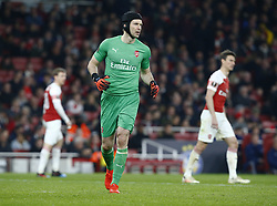 February 21, 2019 - London, Greater London, United Kingdom - Petr Cech of Arsenal ..during UEFA Europa League Round of 32 2nd Leg between Arsenal and of Bate Borisov at Emirates stadium , London, England on 20 Feb 2019. (Credit Image: © Action Foto Sport/NurPhoto via ZUMA Press)