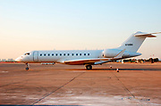 Israel, Ben Gurion International airport private jet aeroplane on the tarmac Bombardier BD-700-1A10 Global Express<br /> N700BX