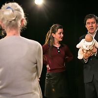 Cyprus Avenue by David Ireland;<br /> Directed by Vicky Featherstone;<br /> Stephen Rea as Eric Miller;<br /> Amy Molloy as Julie;<br /> Julia Dearden as Bernie;<br /> Jerwood Theatre Upstairs;<br /> Royal Court Theatre, London, UK;<br /> 5 April 2016