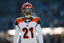 OAKLAND, CA - NOVEMBER 17: Defensive back Darqueze Dennard #21 of the Cincinnati Bengals warms up before the game against the Oakland Raiders at RingCentral Coliseum on November 17, 2019 in Oakland, California. The Oakland Raiders defeated the Cincinnati Bengals 17-10. (Photo by Jason O. Watson/Getty Images) *** Local Caption *** Darqueze Dennard